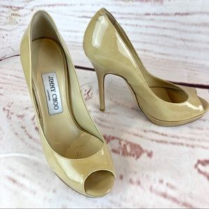 Jimmy Choo | Peep Toe Pumps, Size 6.5